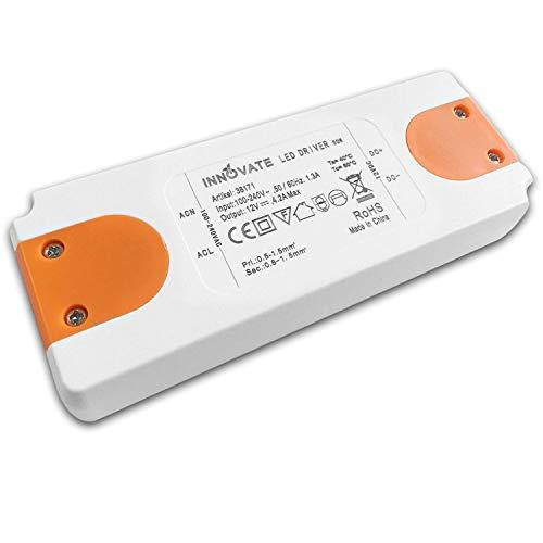 INNOVATE LED Trafo ECO 12-24 Volt/DC, 0-50W - LED Treiber - Transformator - Netzteil - Driver (12V - 50W)