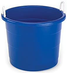 Plastic Utility Tub with Rope Handles