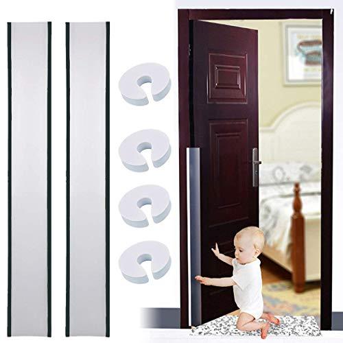Door Finger Pinch Guard 4pk, Door Hinge Guard 2pk Outgeek Doors Protectors Prevents Finger Pinch Proofing Injuries for Flush Door Hinges, Gates,Pivot Doors