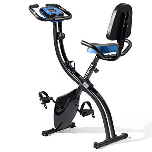 LifePro Foldable Upright Exercise Bike with Pulse Sensors, Adjustable Magnetic Resistance - Portable Indoor Stationary Bike Exercise Machine for Home Gym - Fitness Equipment for Women, Men, Seniors