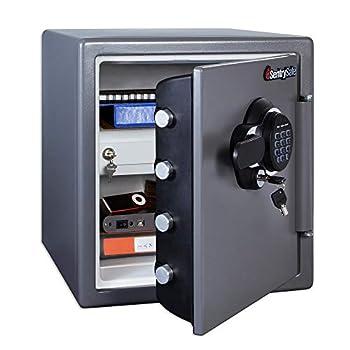 SentrySafe SFW123GDC Fireproof Waterproof Safe with Digital Keypad 1.23 Cubic Feet Gun Metal Gray