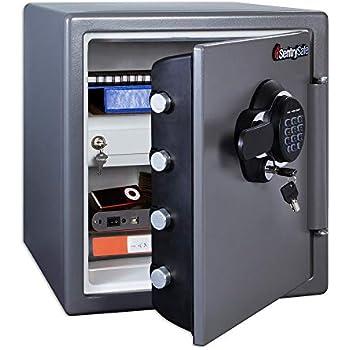 Stash Safe SentrySafe SFW123GDC Fireproof Waterproof Safe with Digital Keypad, 1.23 Cubic Feet, Gun Metal Gray