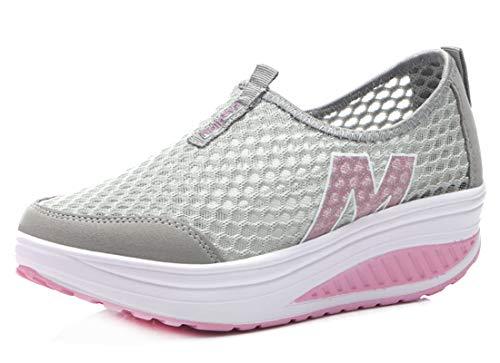 scarpe fitness dimagranti CELANDA Donne Sneaker Dimagrante Scarpe da Passeggio Casual Scarpe da Ginnastica Leggero Confortevole Piattaforma Scarpe per Camminata C Grigio Taglia: 35 EU