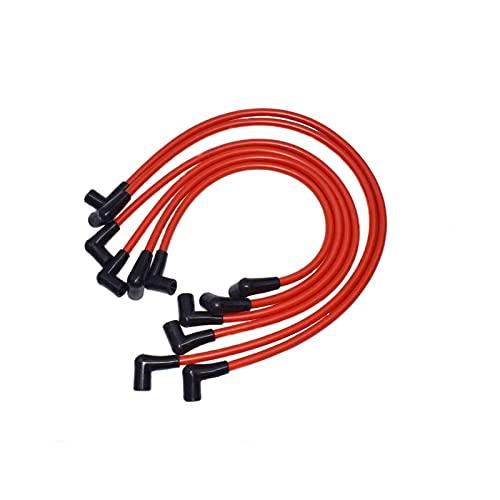 SHUAN QIAO Conjunto de Cables de Alambre de Encendido de bujías de Encendido Rojo de 10,2 mm Fit para Chevy Chevrolet Camaro Pontiac Firebird V6 3.8L 1995 1996 1997 1998 1999