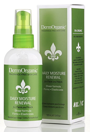DermOrganic Daily Moisture Renewal for Face & Neck, 3.4 fl.oz