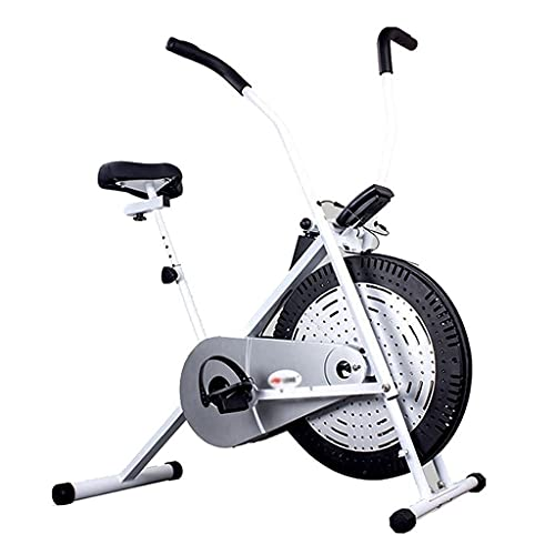Bicicleta Estática Bicicleta De Entrenamiento Aeróbico con Volante De Inercia para Deportes Pesados con Pantalla LED Carga 110 Kg (Color : Blanco, Size : 53 * 112 * 118cm)