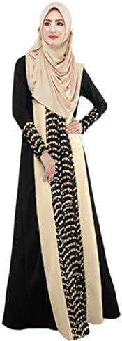 Women New Lace Color Block Kaftan Muslim Abra Robes Islamic Abaya Maxi Dress Irregular Vintage product image