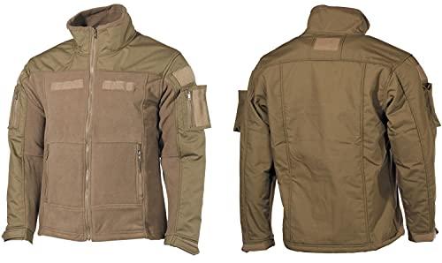 MFH Men's US Combat Fleece Jacket Coyote Size M