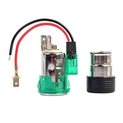 Pkommn Zócalo del Encendedor de Cigarrillos, 12/24V Conector hembra de repuesto Toma de corriente para encendedor de cigarrillos para coche motocicleta marina ATV RV DIY