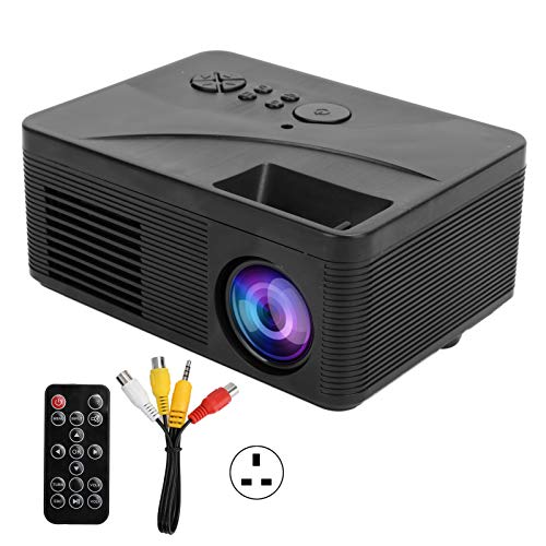 Annadue Portable Mini Projector Home Cinema Theater Outdoor Movie Projector HD 1080P Wall Projection Video USB HDMI AV H3 100‑240V(black)