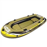 ゴムボート 釣りエアボート pvc製エアボート 釣り大人2人用インフレータブルボート、フィッシングディンギー、パドル付き子供用インフレータブルボート、インフレータブルラフトボート、ツーリングカヤック(,1personal