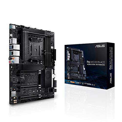 ASUS Pro WS X570-ACE Workstation Mainboard Sockel AM4 (Ryzen 3000 kompatibel, ATX-, PCIe 4.0, DDR4 ECC U.2, USB 3.2, ASUS Conttrol Center Express)