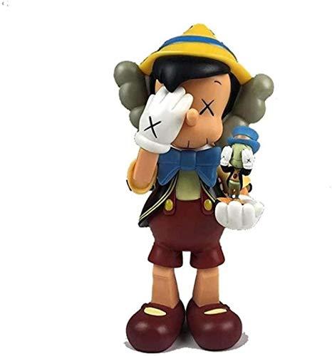 Pop Pinocho de pie muñeca Modelo de Juguete de Dibujos Animados Arte Coleccionable decoración de Interiores Regalo-UN