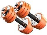 ZYLHC La pérdida de peso de entrenamiento físico entrenamiento de la fuerza de peso ajustable 2 en 1 Set mancuernas, mancuernas de fitness con la biela puede ser utilizado como un levantamiento de pes