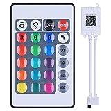 Deror Controlador de luz LED Bluetooth Controlador de Luces RGB de Control de App con Control Remoto