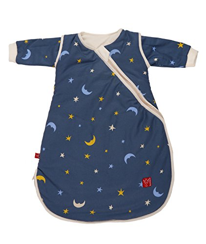 Kaiser Ganzjahresschlafsack Willy 65060282, Mond und Sterne marine, 90 cm lang