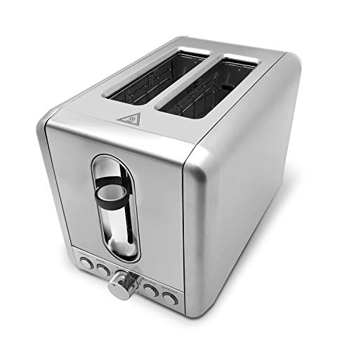 2 Slice Toaster Stainless Steel,Bagel Toaster - 5 Bread Shade...