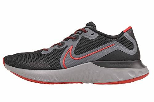 Nike Renew Run, Nero/University Red-Iron Grey Uomo, Nero (Nero University Rosso Ferro Grigio), 43 EU