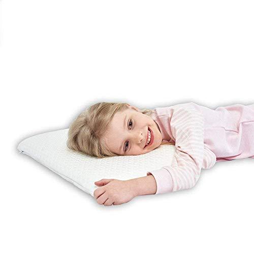 Almohada de Espuma para los niños Que Duerme la Almohadilla más Lisa de Conforma de la Almohadilla Grande para la Parte Posterior, y los durmientes Laterales - Regalo Adicional 100%
