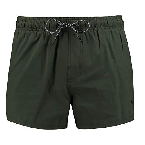 PUMA Herren Badehose Badeshorts Logo Short Length Swim Shorts, Farbe:Thyme, Bekleidungsgröße:XXL