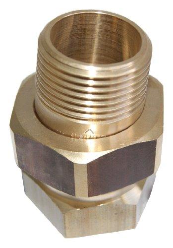 Schell 141030099 Heizkörperverschraubung Durchgang für Eisenrohr 10 bar messing, 1 Zoll