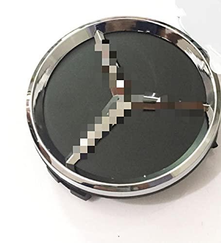 ColorBuy 4 Tapas de buje Central para Mercedes-Benz de 60 mm, Pegatinas con emblemas de Logotipo, Accesorios de Estilo de Coche para buje de Rueda Central de Aluminio Gris