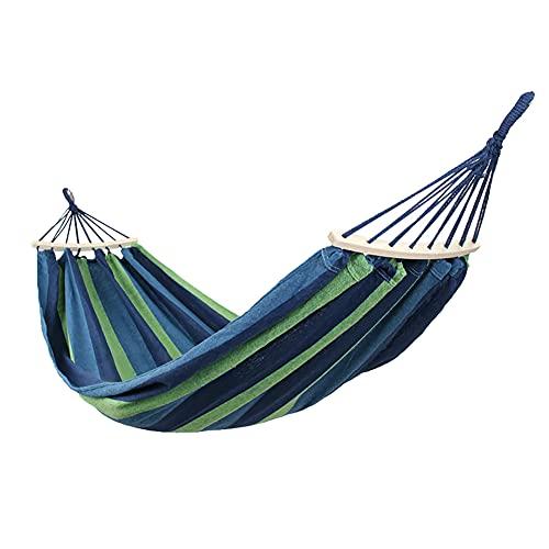 GARLIC PRESS 1Pcs Hamaca de Lienzo Grueso Capacidad de 200 Kg Cama Portátil para Jardín al Aire Libre Viajes Camping Picnic Playa Hamaca Columpio Accesorio de Jardín (80_cm)