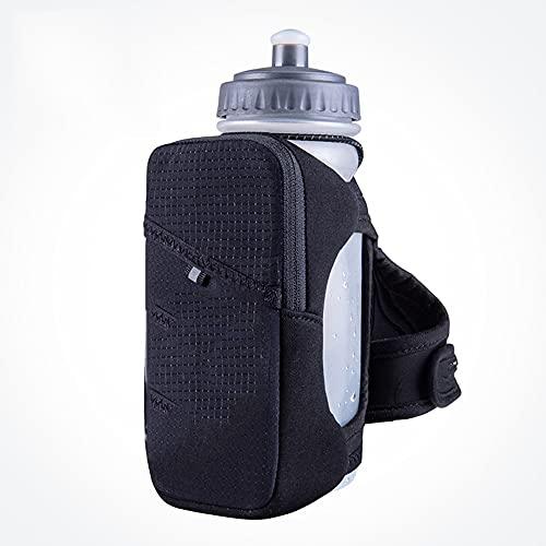 LGQ Botellas De Agua Corriente De Mano con Matraz Suave De 600 Ml con Correa De Mano Paquete De Hidratación Aplicable Senderismo Ciclismo Bolsa De Almacenamiento Paquete De Hidratación