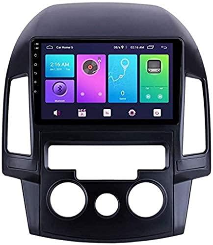 Android 10.0 Navegación GPS para Hyundai I30 2007-2012, 9 Pulgadas Reproductor de Radio de automóvil FM/RDS/DSP/Bluetooth/Enlace DE Espejo/CÁMARA RETERRADA / 4G + WiFi,Manual,4G+WiFi 2+32