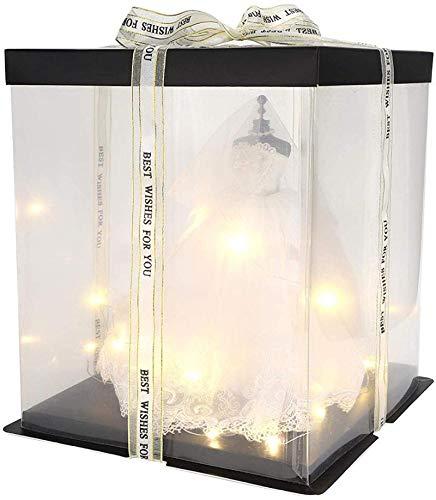 STB Modelo de vestido de novia caja de regalo para decoración de dormitorio 18 años 18 regalo de cumpleaños adulto especial exquisito creativo novia niña corazón regalo para niña amiga correa