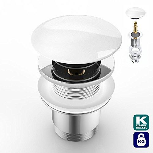 Push Open AK05R | runder Keramikdeckel | ohne Überlauf-Funktion verchromt | Standardgröße