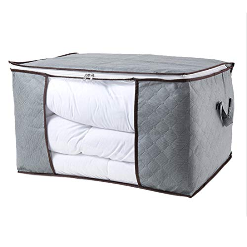 MBMF Thickened Quilt Storage Bag Quilt Storage Boxes Duffel Bag Finishing Non-woven Dust Bag(Color:grey,Size:60x40x35cm)