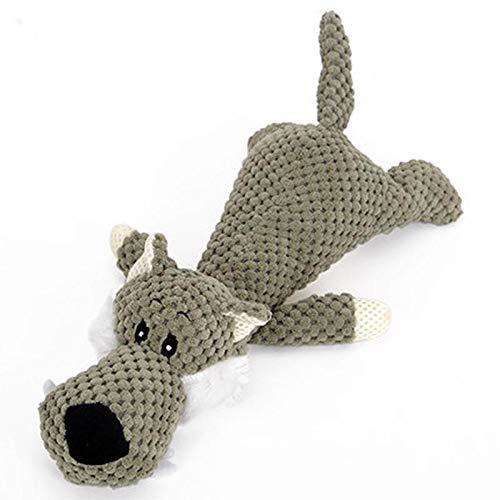 Yowablo Interaktive Hundespielzeug welpen Molar Biss Pet Hundezahnbürste Zahnbürste Katzen Hund Spielzeug Ball Haustier Spielzeug Quietschspielzeug Hundespielball (28cm,Armeegrün)