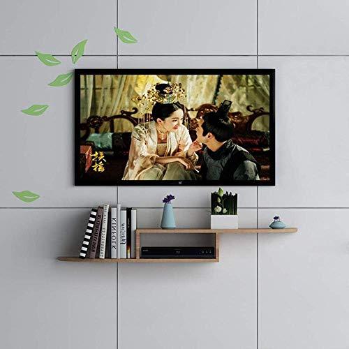 CHOUCHOU Shelves Floating Shelf Wall-Mounted Tv Cabinet Set Top Box Router Projector Game Equipment Storage Shelf Tv Stand,Dark Brown 110cm,Colour Name:Light Brown 120cm Flower Pot Rack