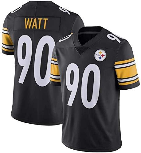 Camiseta de fútbol de la NFL Steelers de los Hombres de # 55# 50# 90 El Legendario Segunda generación de los Hombres de Manga Corta Deportes Jersey (Color : A-2, Size : S)