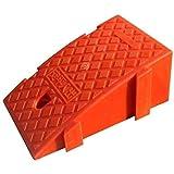 YWAWJ 病院コミュニティ縁石スロープ厚みのプラスチックSanjiaマット簡単には斜面に沿って、プラスチックの駐車場にスロープパッドをインストールすると、ポータブルカーランプをインストールするには簡単に斜面 (Color : Red, Size : 25*47*19CM)