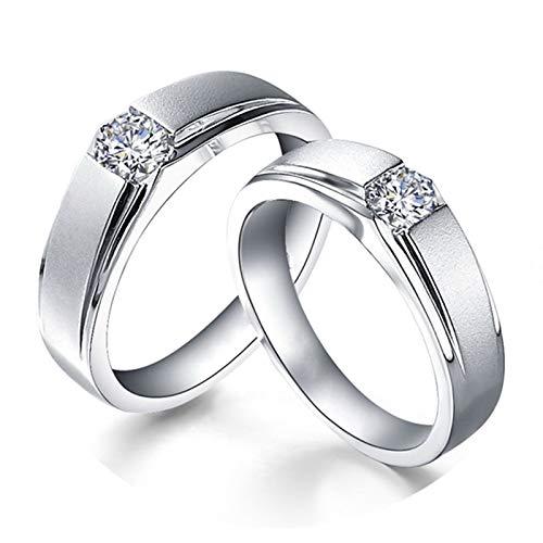 KnSam Platin Ringe Matt Goldringe Damen Echt Gold EIN Paar Ringe Paarpreis Ringe Set Silber
