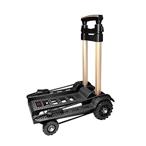 YXF-Tool trolley Trolley - draagbare winkelwagen aluminium trolley kleine pull cart trailer bagage dual-use trolley huis vouwen mini kinderwagen winkelwagen