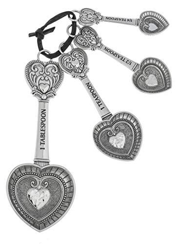 Ganz MSRNG SPNS 4PCSET,ZI Hearts Measuring Spoons