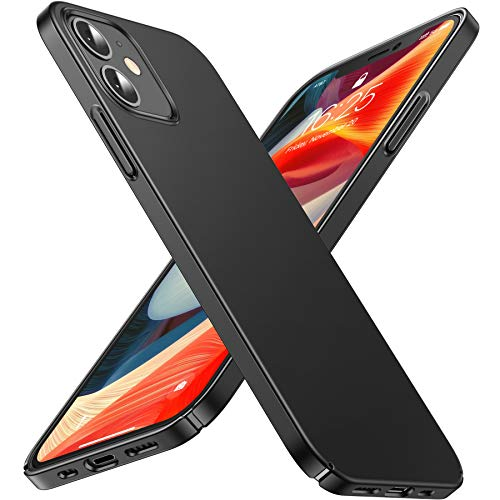 CASEKOO Slim Fit Compatible with iPhone 12 Case, Designed for iPhone 12 Pro Case 6.1 inch 5G (2020), [Ultra Thin] Hard PC Matte Finish Grip Protective Phone Cover- Graphite Black