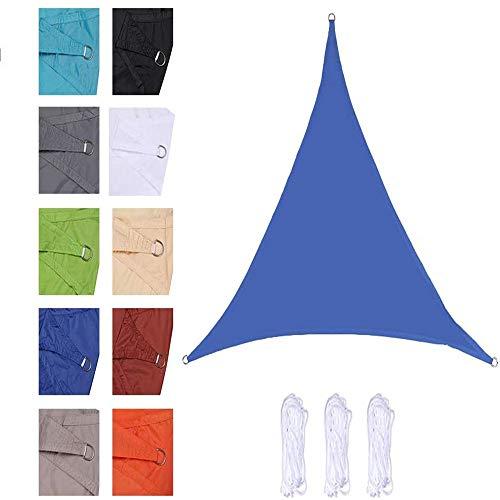 CLG Voile D'Ombrage Jardin Patio Jardin Party Etanche 98% Anti-UV Rectangulaire Extérieur Auvent Auvent Auvent, DIFFERENTES Tailles (4.5 * 4.5 * 4.5 m,Royal Blue)