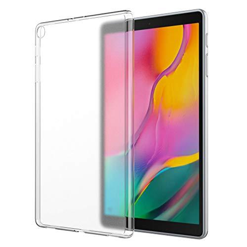 MoKo Funda Compatible con Samsung Galaxy Tab A 10.1 2019, Prima Material Suave TPU de Goma Esmerilada para Probar de Choques Compatible con Galaxy Tab A 10.1  SM-T510 T515 2019 - Matte Clear