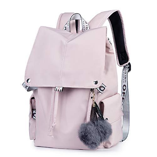 BAACD, Junge Mädchen Rucksack rosa schwarz Reiserucksack Hochschulcampus Leichter wasserdichter Picknick-Rucksack für Studenten-Pink