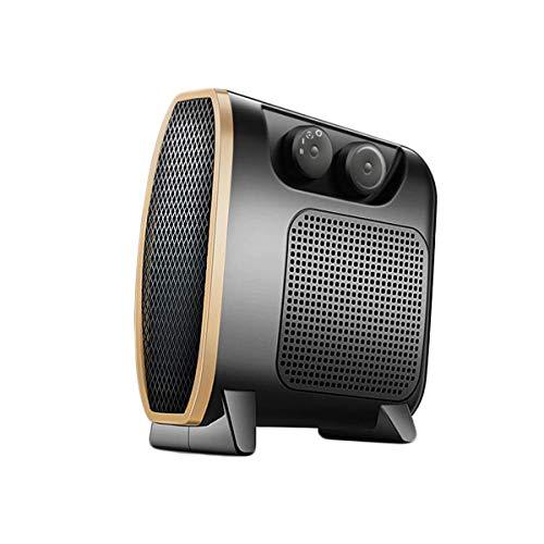 Aoyo Calefactores Nuevos Mini Calentadores Eléctricos, Radiador Portátil Compacto de 3 Segundos de Calefacción Rápida para el Hogar (Negro, 220V 35-800-1500W)