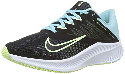 Nike Damen Quest 3 Running Shoe, Black/Barely Volt-Glacier Ice, 40 EU