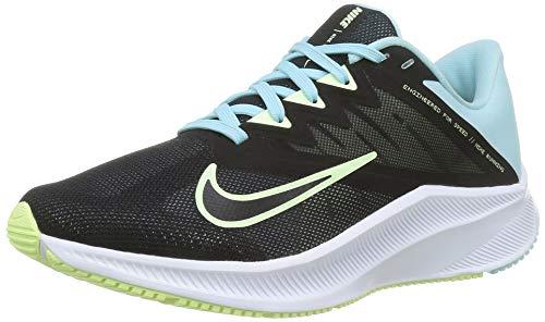 Nike Wmns Quest 3, Scarpe da Corsa Donna, Black/Barely Volt-Glacier Ice, 37.5 EU