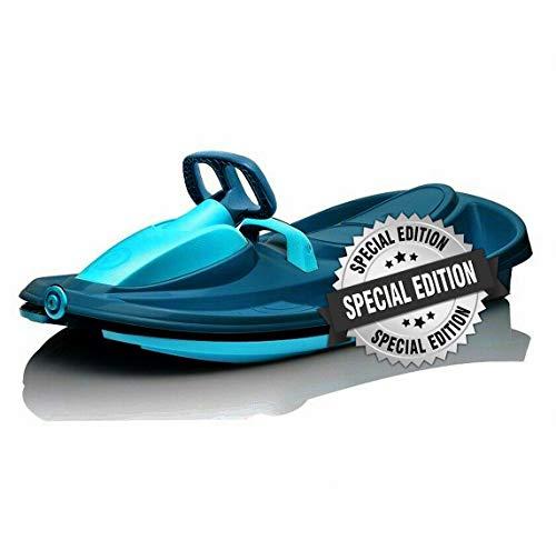Slittino Snowracer Biposto SportOne Stratos Titanium Blu con Volante - Max 120 kg - Exclusive Line - Edizione Speciale