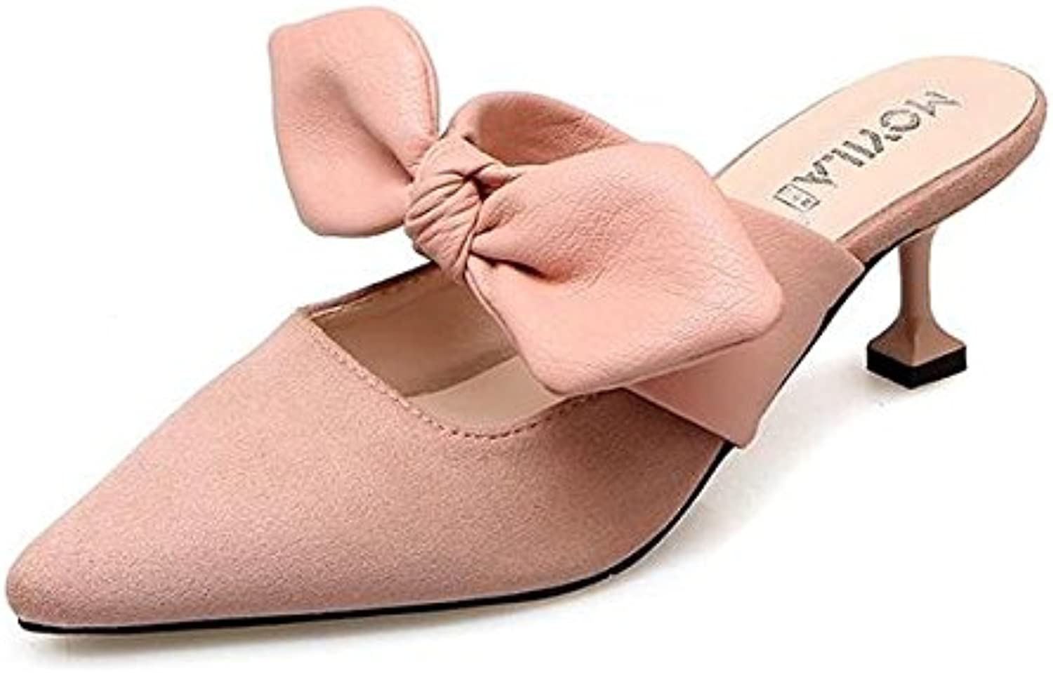 Lapink Women's Cortical Bow Muller Slippers