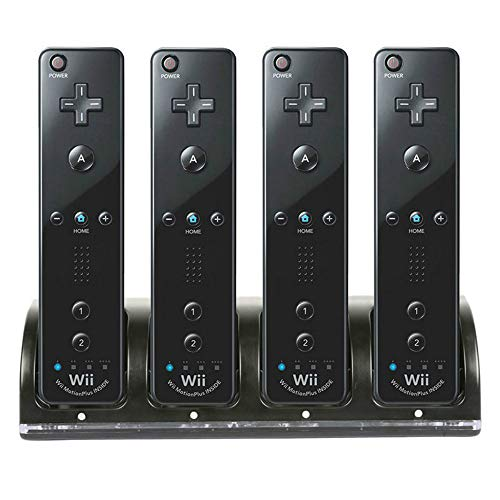 Wii Remote Controller Charger, 4 in 1 Wii Charging Dock Station with...