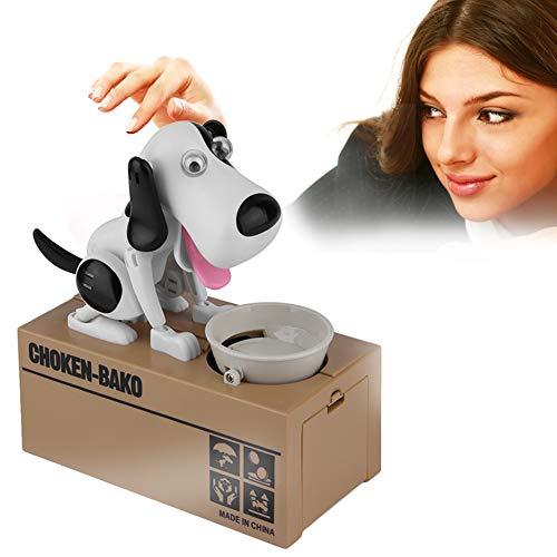 JoyFan Hund Spardose Roboter Hund Bank Geld Spardose Essen Münze Kauen Spielzeug für Kinder, Kinder